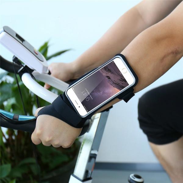 Etui na telefon 4.7 cala neoprenowe czarne do biegania