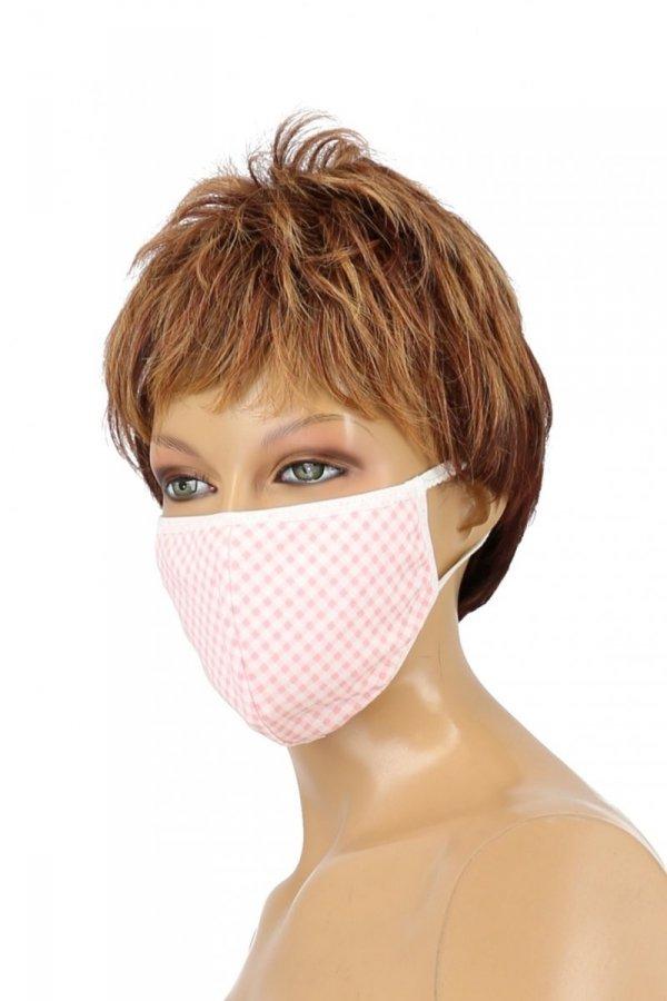 maska z kieszonką na filtr różowa