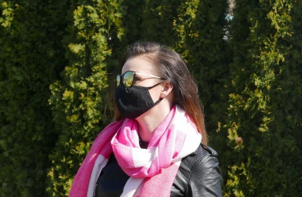 maska antysmogowa czarna