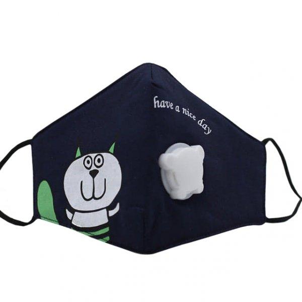 maseczka z filtrem dla dzieci kotek