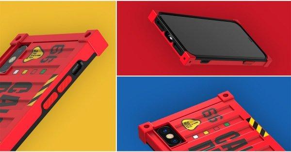 Etui czerwony kontener Remax RM-1657 dla iPhoneX