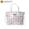 Damen Handtasche mit Wimpern-Muster