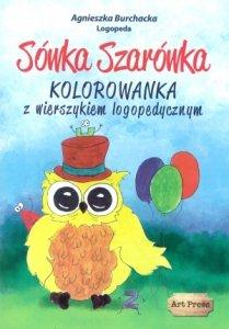 Sówka Szarówka Kolorowanka z wierszykiem logopedycznym