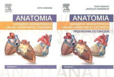 Anatomia narządów wewnętrznych i układu nerwowego człowieka + Przewodnik do ćwiczeń Komplet