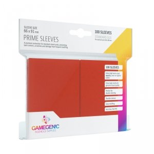 Gamegenic: Prime CCG Sleeves (66x91 mm) - Red, 100 sztuk