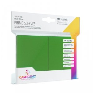 Gamegenic: Prime CCG Sleeves (66x91 mm) - Green, 100 sztuk