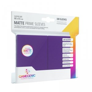 Gamegenic: Matte Prime CCG Sleeves (66x91 mm) - Purple, 100 sztuk