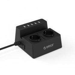 ORICO LISTWA ANTYPRZEPIĘCIOWA USB 2P/1S + 4xUSB 2.4A 25W