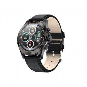 Smartwatch Garett Men Style czarny, skórzany