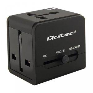Adapter uniwersalny podróżny Qoltec 10,5W 5V 2,1A, 2xUSB 2.0