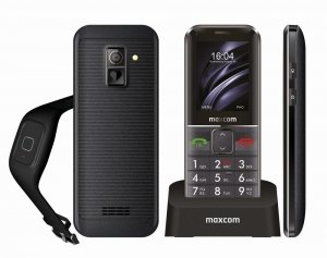Telefon MaxCom MM 735BB Comfort + opaska SOS
