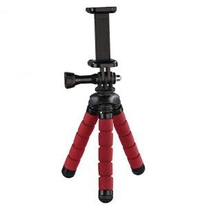 Statyw Hama mini Flex 2w1 14 cm, czerwony