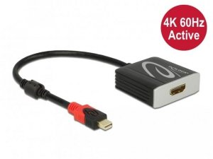 Kabel adapter Delock mini DisplayPort 1.4 - HDMI M/F 4K 0,2m HDR czarny