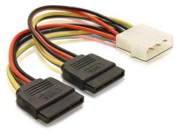 Kabel Delock SATA zasilający Molex(M)->SATA(F) X2 0,1m