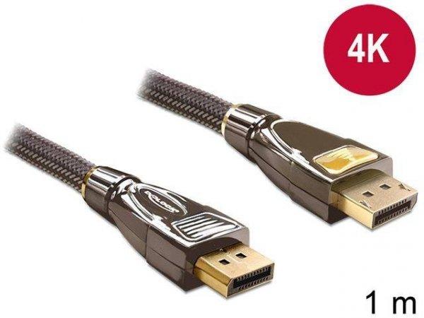 Kabel Delock DisplayPort M/M 20 Pin v1.2 1m 4K antracyt