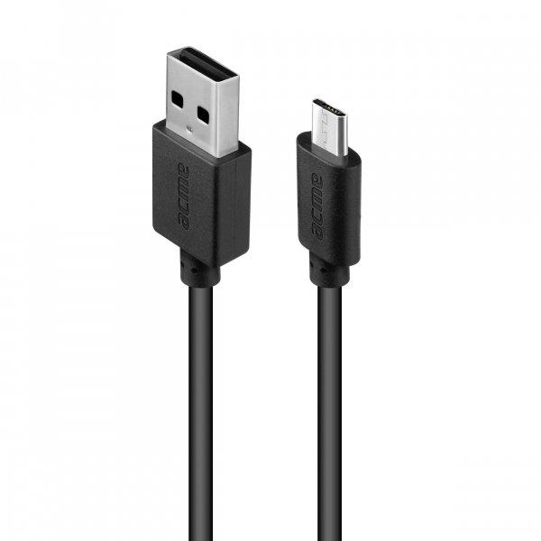 Kabel USB 2.0 Acme CB1011 A/M - micro-USB B/M, 1m, czarny