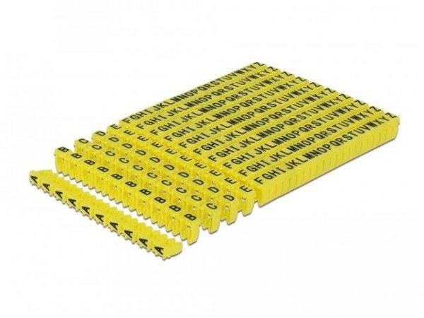 Organizer kabli Delock - znacznik żółty litery A-Z 260 sztuk