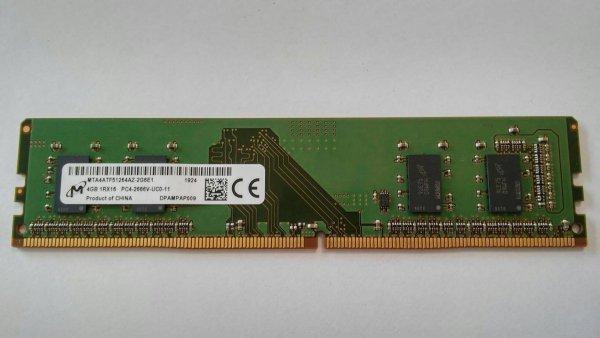 Pamięć DDR4 Micron 4GB 2666MHz 1,2V