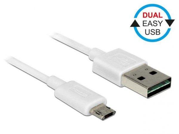 Kabel USB Delock micro AM-BM USB 2.0 Dual Easy-USB 1m