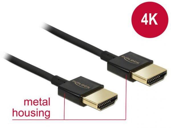 Kabel HDMI Delock HDMI-HDMI High Speed Ethernet 4K 3D 0.25m