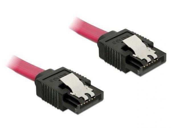 Kabel Delock SATA DATA III 0,1m z zatrzaskami metalowymi