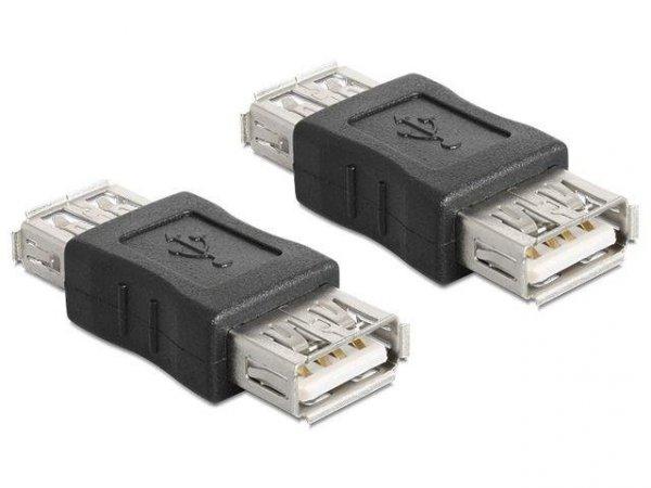 Adapter Delock USB(F) 2.0 - USB(F) beczka