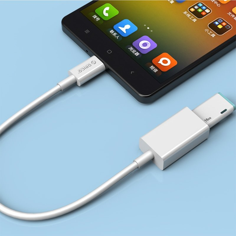 ORICO KABEL USB-C - USB-A 2.0 OTG 25cm