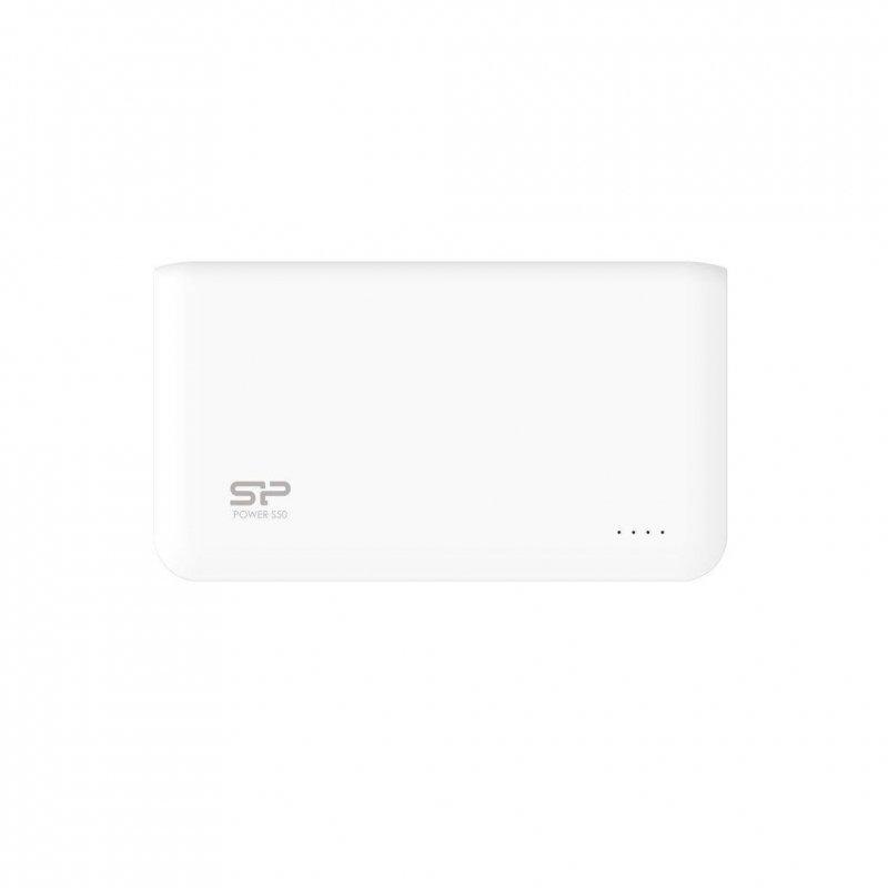 Powerbank Silicon Power S50 5000mAh 2xUSB LED biały