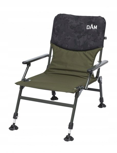 66556 KRZESŁO CAMOVISION COMPACT CHAIR WITH ARMRESTS STEEL