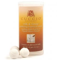 Kulki musujące do manicure - Miód i mleko 24 szt - Cuccio