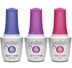 Gelish Dip - Zestaw płynów do manicure tytanowego - krok 2-4