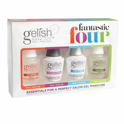 Gelish zestaw startowy - Top, Baza, Oliwka, PH Bond -Gelish Fantastic 4x15ml - do hybrydy