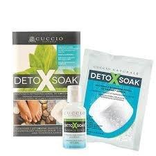 Cuccio Detox Soak zestaw na jeden zabieg - zawiera chlorek magnezu