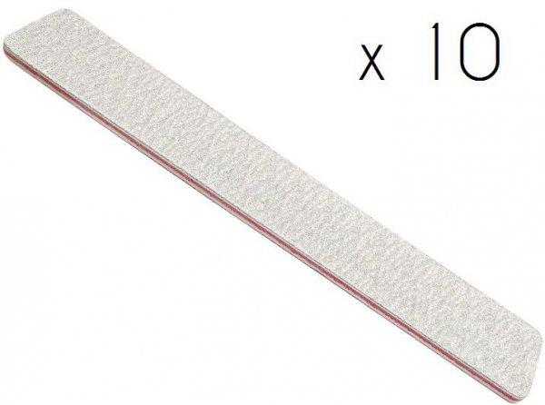 Pilniki do paznokci prostokątne szerokie 100/180 - 10 szt