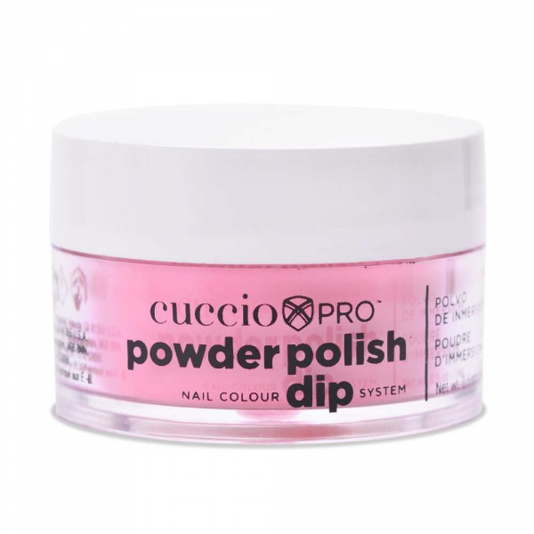 Puder do manicure tytanowy - Cuccio dip 14G - Bright Pink Gold Mica (5588)