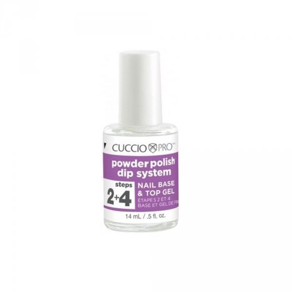 Manicure tytanowy krok 2+4 - Cuccio DIP  - TOP i BAZA 14ml
