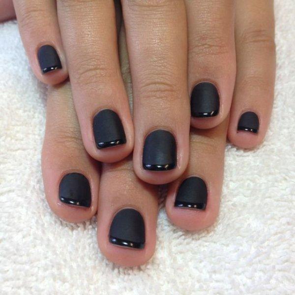Puder do manicure tytanowego - GELISH DIP - Black Shadow 23 g - (1610830)