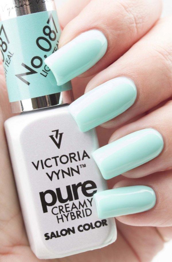 087 Light Teal - kremowy lakier hybrydowy Victoria Vynn PURE (8ml)