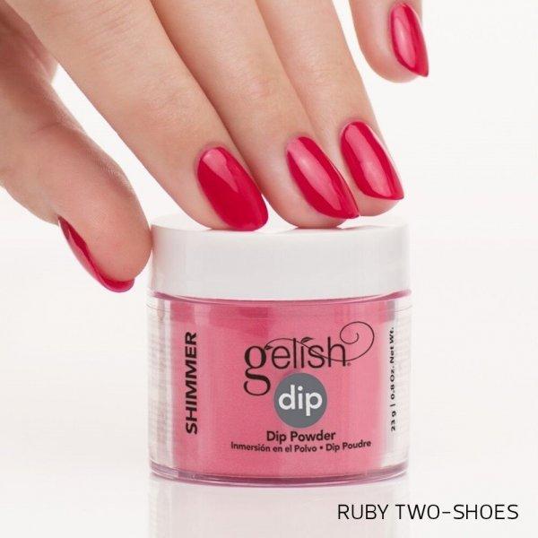 Puder do manicure tytanowego - GELISH DIP - Ruby Two Shoes 23g (1610189)
