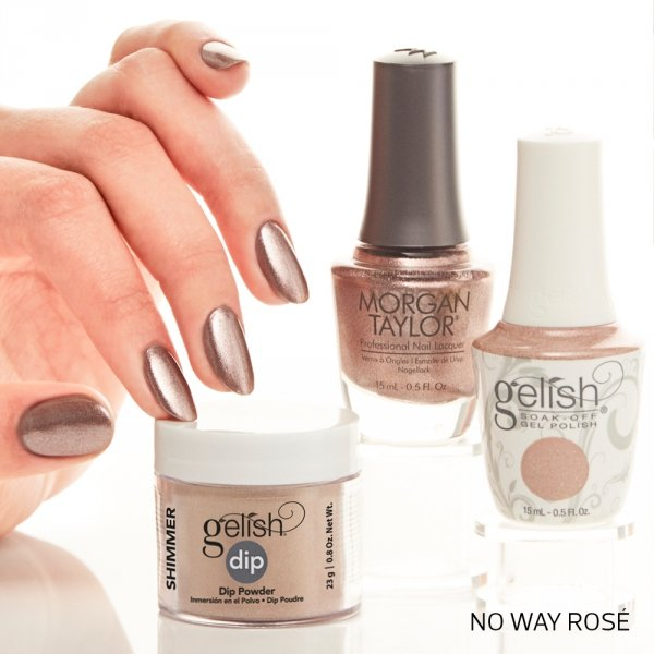 Puder do manicure tytanowy - GELISH DIP - No Way Rose 23 g - (1610073)