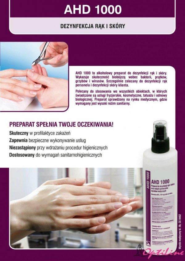 Płyn do dezynfekcji rąk i skóry na bazie alkoholu AHD 1000 - 1L - wyrób medyczny