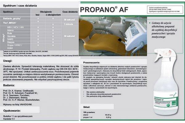 Płyn do dezynfekcji powierzchni/narzędzi  PROPANO 1000ml