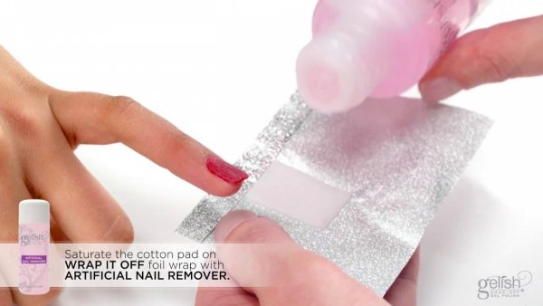 Folie do usuwania żellakieru GELISH Hand&Nail Harmony Wrap It Off 100szt.