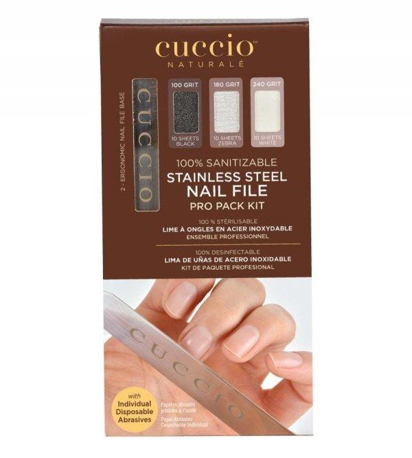 Cuccio Stainless Steel Nail File | Zestaw 30 pilników