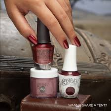 Puder do manicure tytanowego - GELISH DIP - Wanna Share a Tent? 23g (1610317)