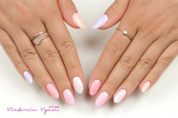 Lakier hybrydowy Society Pink 8 ml (200) Victoria Vynn - pastelowe