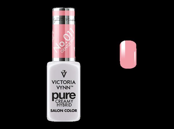 011 Gentle Pink - kremowy lakier hybrydowy Victoria Vynn PURE (8ml)