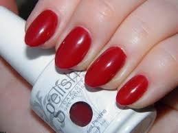 gelish czerwony lakier intensywna czerwien