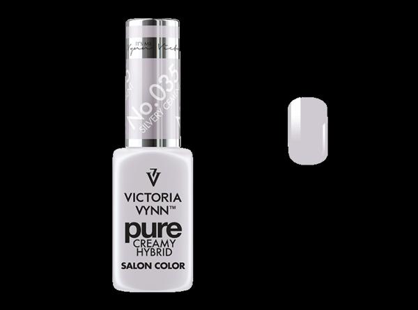 035 Silvery Cement - kremowy lakier hybrydowy Victoria Vynn PURE (8ml)