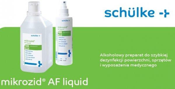 Preparat do dezynfekcji powierzchni na bazie alkoholu - Schülke Mikrozid AF  - 1L